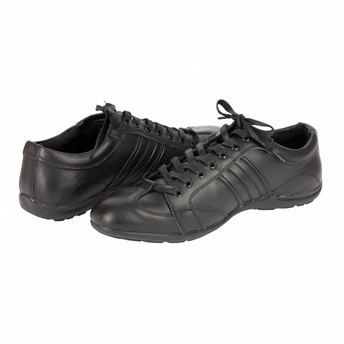 Chaussure Cuir Noire type Sneakers - VVS