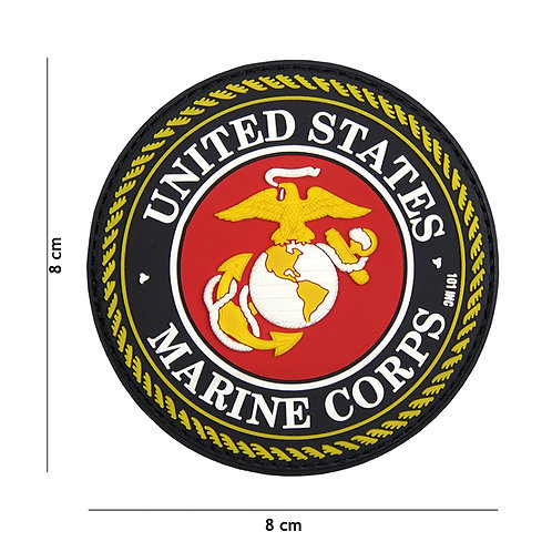 Patch 3D PVC United States Marine Corps rouge