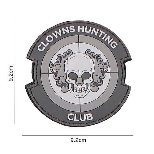 Patch 3D PVC : Clowns Hunting Club , gris - 101 Inc