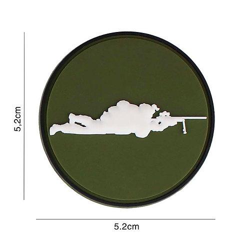 Patch 3D PVC : Sniper vert rond - 101 Inc