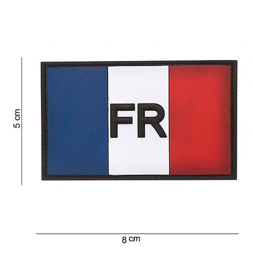 Patch 3D PVC : Drapeau France avec velcro - 101 Inc