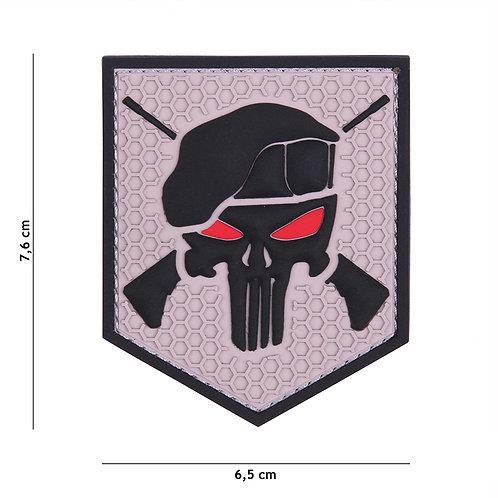 Patch 3D PVC Commando Punisher gris -101 Inc