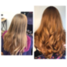 Blonde to Red color change