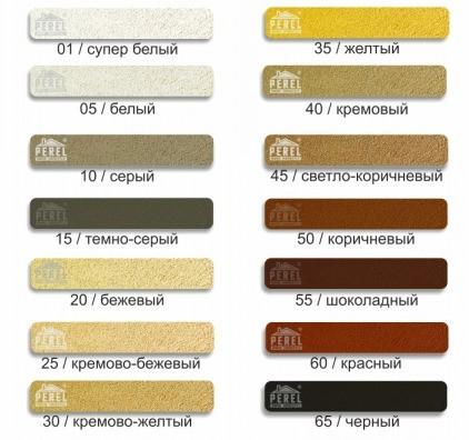 PEREL Цветные кладочные смеси (палитра)