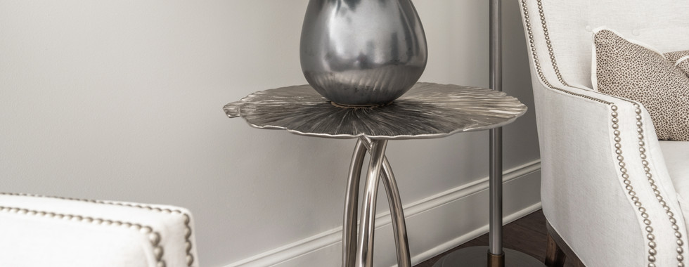 Sophisticated Town Home Eucalyptus Side Table