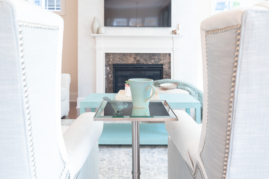 Coastal Casual - Side Table to Mantel
