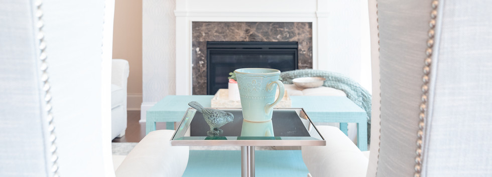 Coastal Casual - Side Table to Mantel