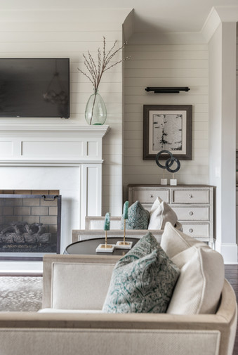 Sophisticated Town Home Mantel Side 2