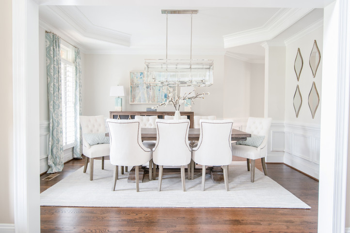 Bright Living - Full Dining Room View