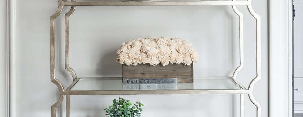 Sophisticated Town Home Curated Book Shelf View 3