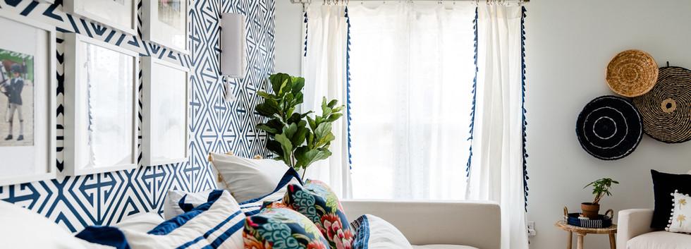 Pretty Prep & Pop Bedroom - Day Bed & Window view