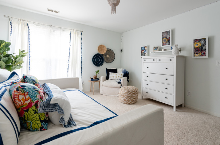 Pretty Prep & Pop Bedroom - Day Bed, Seating, and Dresser