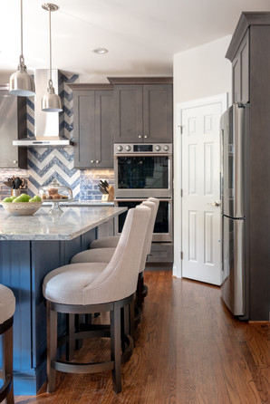 Colorful Kitchen - Kitchen Island View 2