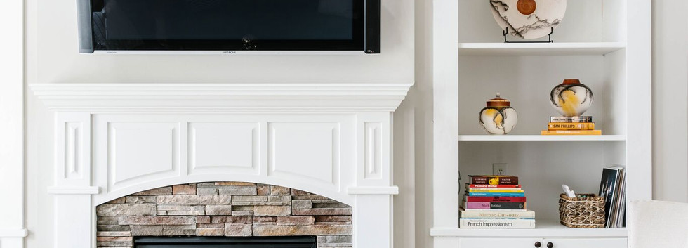 Abstract Abode - Living room mantel