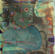 Floating in the dark_mixed media_6x12_20