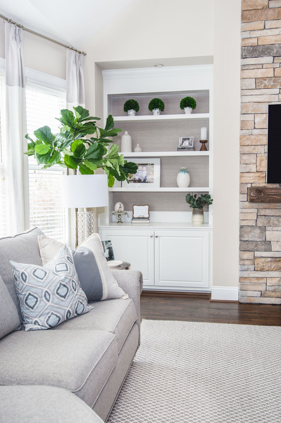 Bright Living - Living Room Built In storage