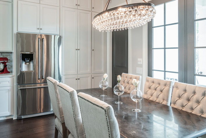 Sophisticated Town Home Dining Room Table Side View
