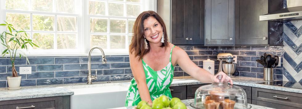 Colorful Kitchen - Brenna Morgan, Kitchen Island, Backsplash
