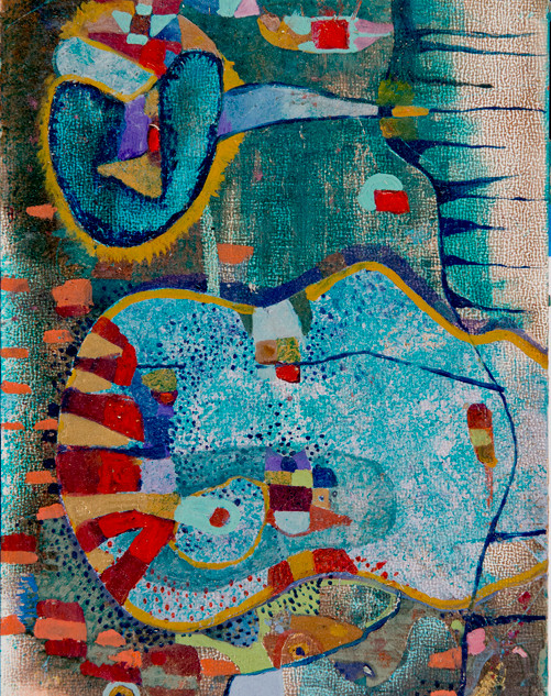 _Moving Patterns_Oils paint on panel_6x1