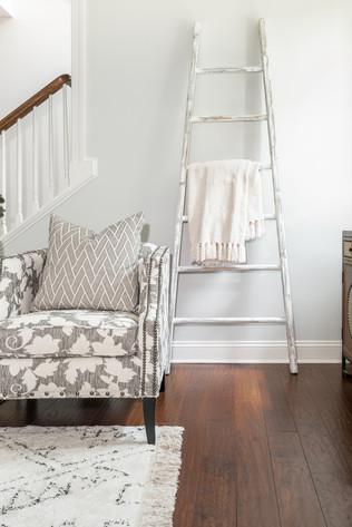 Light & Shadow - Living Room Armchari & Blanket Ladder