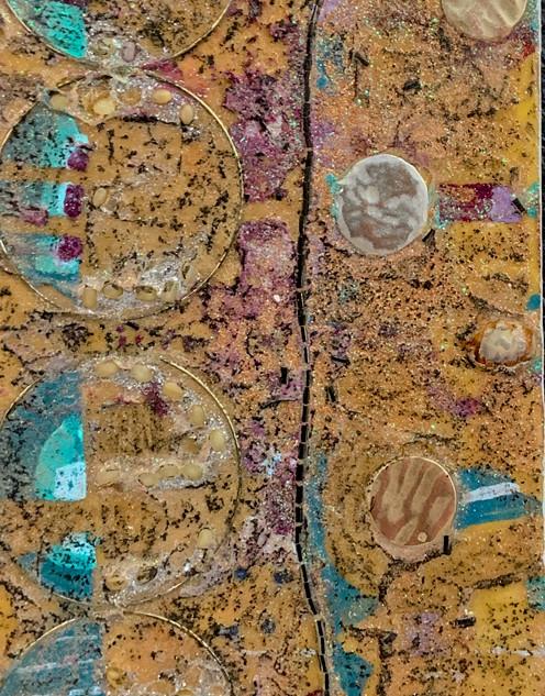 Circle and Jewels_mixed media_6x12_2020