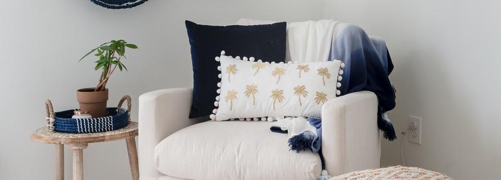 Pretty Prep & Pop Bedroom - Cozy Nook with Arm Chair