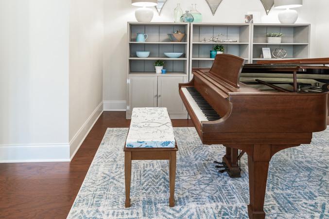Coastal Casual - Piano Bench and Piano