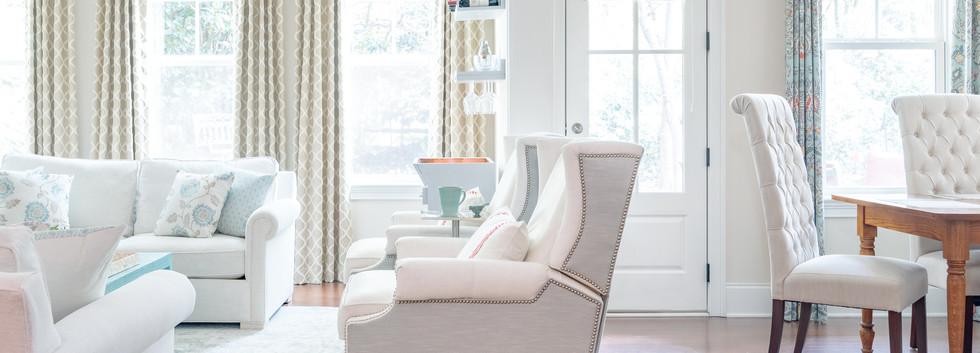 Coastal Casual - Living Room Window Treatment