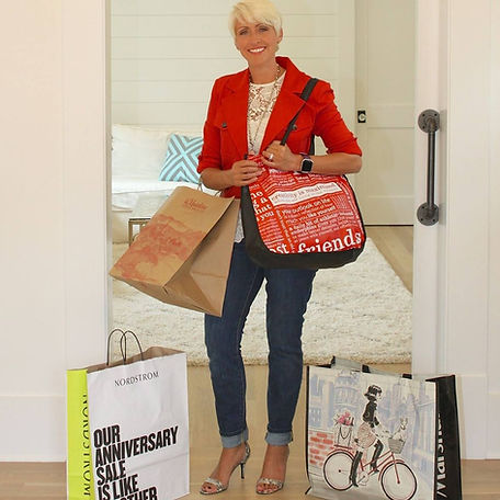 My fashion sherpa personal shopping with plenty of shopping bags