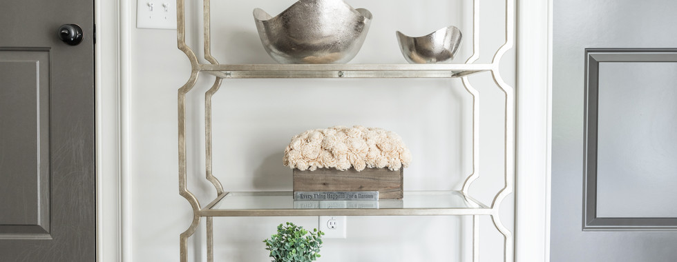 Sophisticated Town Home Curated Book Shelf