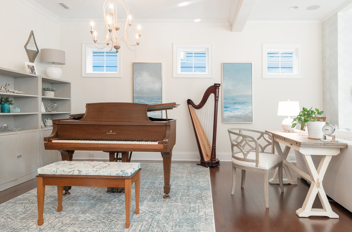 Coastal Casual - Music Corner with Harp and Piano