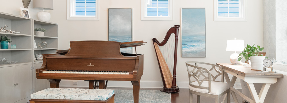 Coastal Casual - Music Corner with Harp and Piano