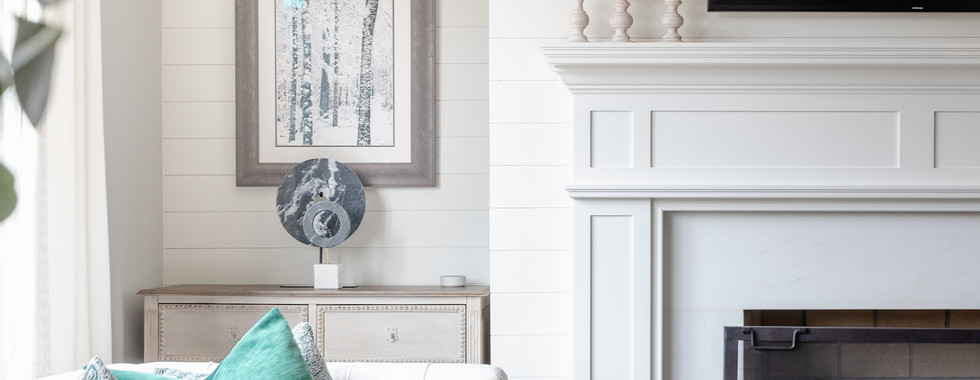 Sophisticated town Home Mantel