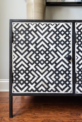 Light and Shadow - Geometric side board