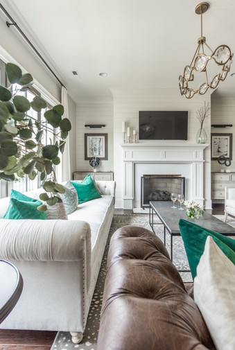 Sophisticated Town Home Living Room View