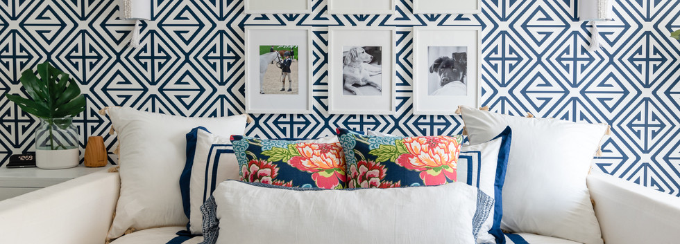 Pretty Prep & Pop Bedroom - Daybed & Gallery Wall