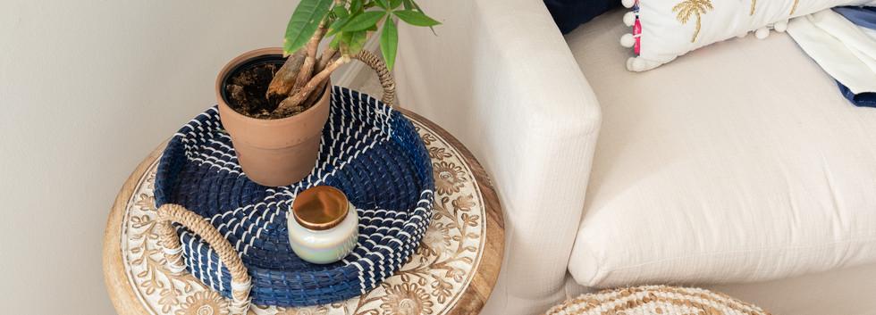 Pretty Prep & Pop Bedroom - Cozy Nook side table