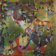 Green Breeze_oil paint,wax on panel_12x1