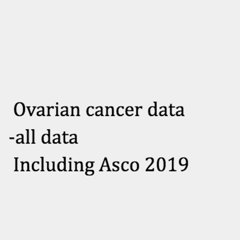 Ovarian - all our entries including asco 2019