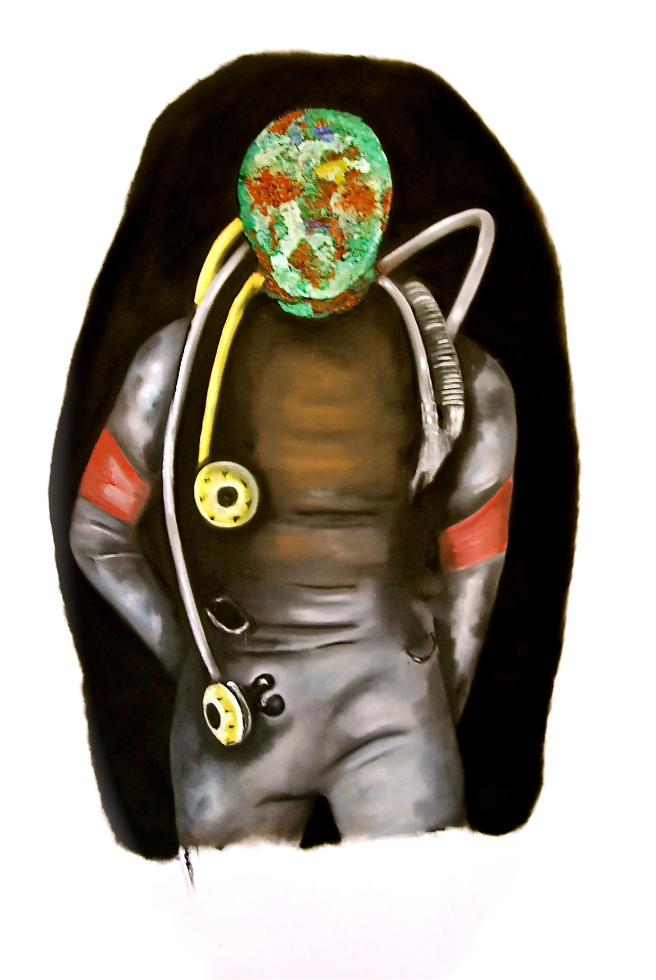 Self-Portrait With Dark Diving Suit