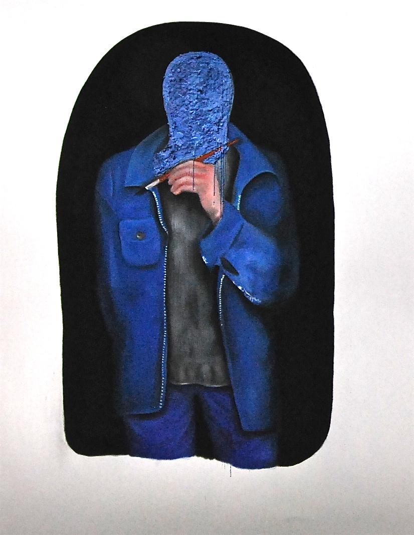 Self-Portrait In Bleu De Travail