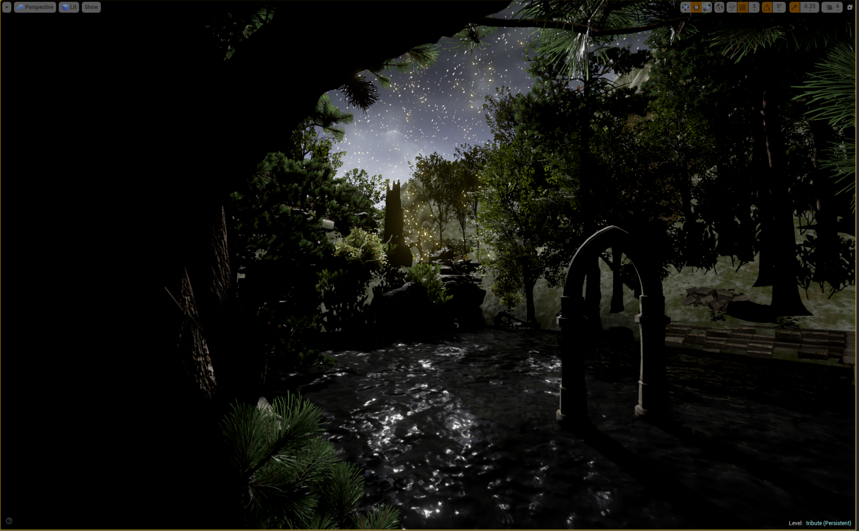 first scene in unreal engine