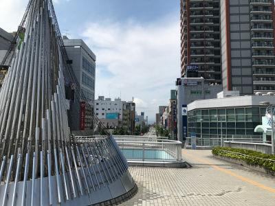 相模原駅前広場から大通りを見たところ