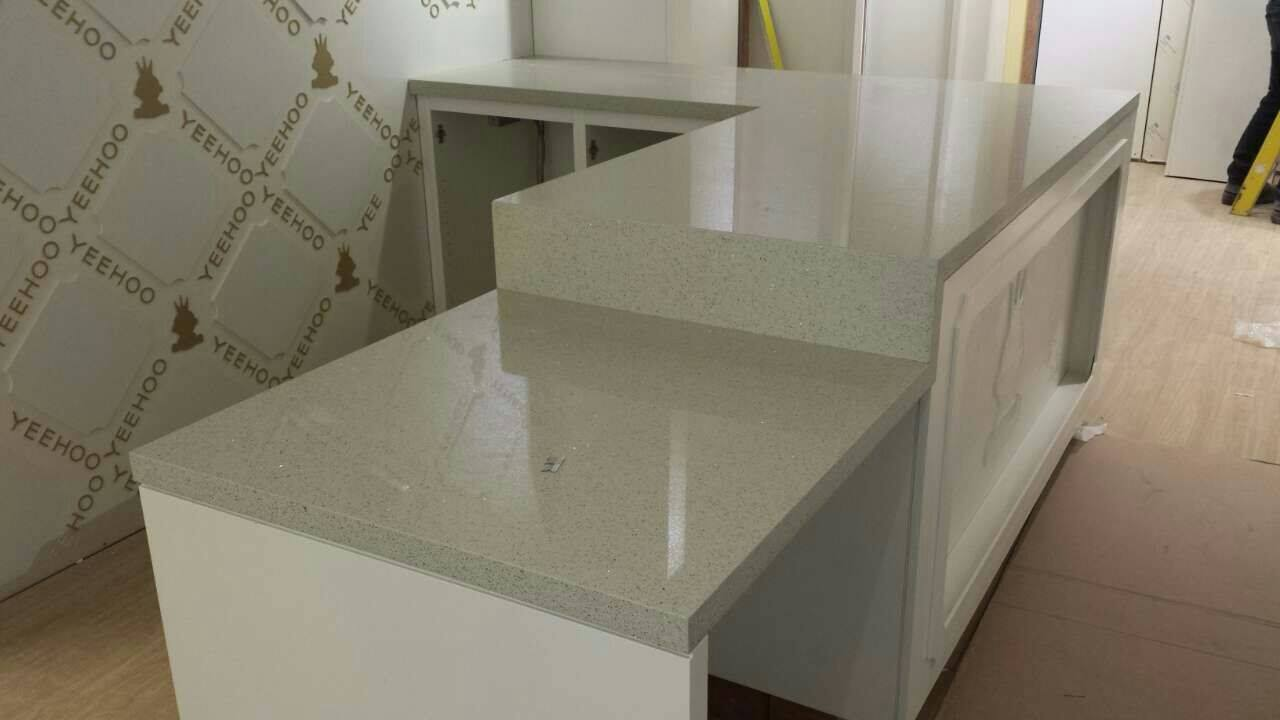 Quartz countertop for reception desk