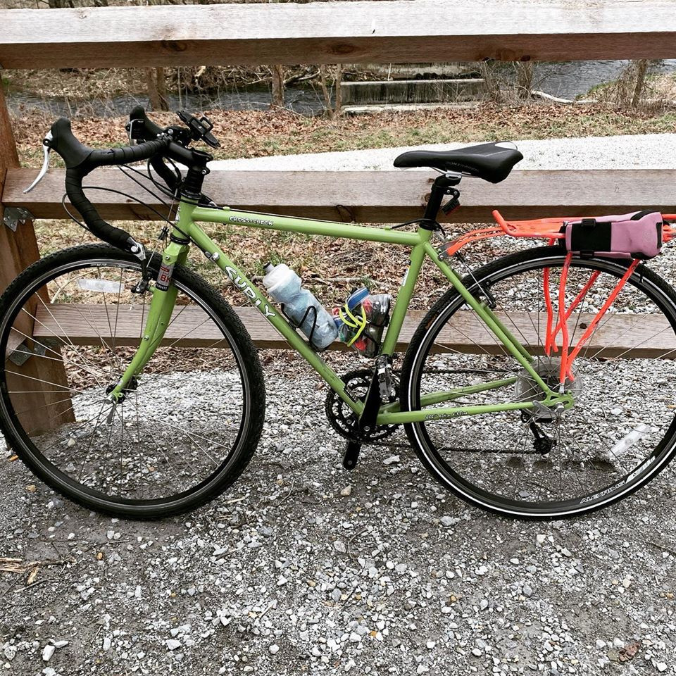 Surly Cross-check Gravel Bike on a Trail