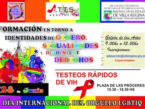Taller de formación y jornada de esparcimiento en el Día Internacional del Orgullo LGBTIQ