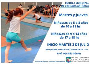 Escuela Municipal de Gimnasia Artística a partir del próximo 3 de Julio