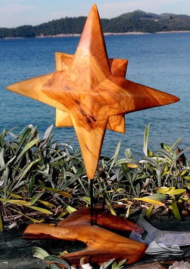 Rosa dei venti. Olive Wood Sculpture