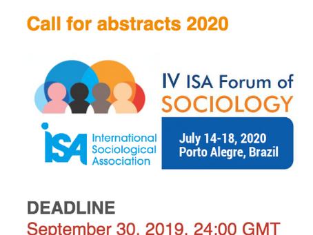 Llamado de resúmenes: Young People and the Future of Work (IV ISA Forum of Sociology)