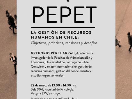 Coloquio PEPET: La gestión de recursos humanos en Chile